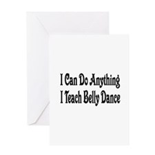 Funny Belly dancing Greeting Card