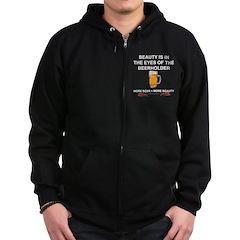 Behold the beer Zip Hoodie (dark)