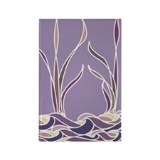 Lavender Sunset Marsh Rectangle Magnet