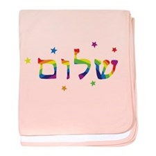 Cute Girl shalom baby blanket
