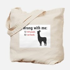 Wrong with Me Tote Bag