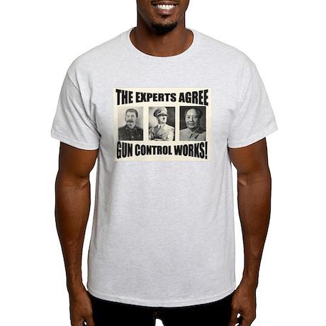 The Experts Agree Gun Control Ash Grey T-Shirt