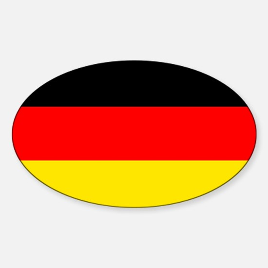 German Flag Sticker (Oval)