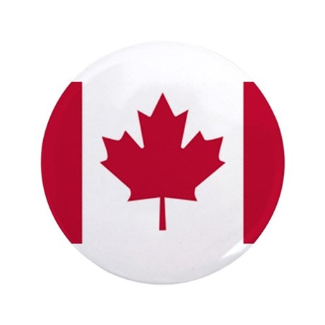 """Canadian Flag 3.5"""" Button"""
