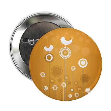 "Floral - Orange 2.25"" Button (10 pack)"