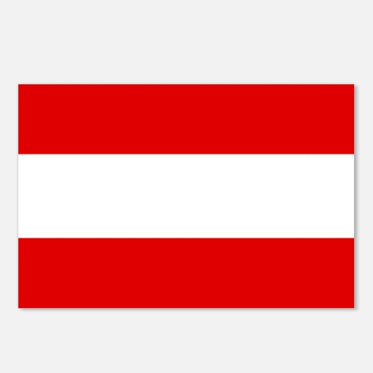 Austrian flag Postcards (Package of 8)