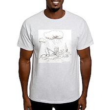 I Love Fishing Ash Grey T-Shirt