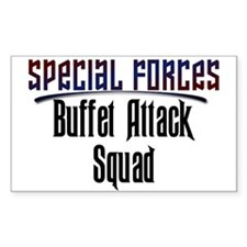 Buffet Attack Squad Sticker (Square)