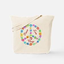 Peace Love Virgo Tote Bag