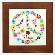 Peace Love Virgo Framed Tile