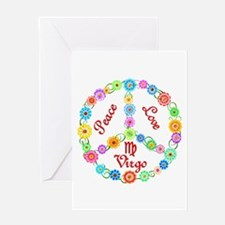 Peace Love Virgo Greeting Card