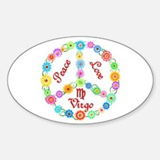 Peace Love Virgo Decal