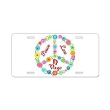 Peace Love Virgo Aluminum License Plate