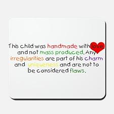 Handmade with Love Boy Mousepad