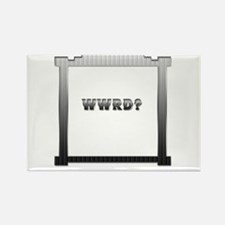 """What Would """"R"""" Do? Rectangle Magnet"""
