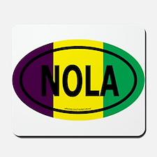 TriColor NOLA Euro/Black Mousepad