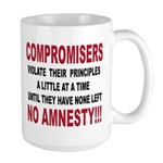 Compromisers violate their pr Large Mug
