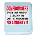 Compromisers violate their pr baby blanket