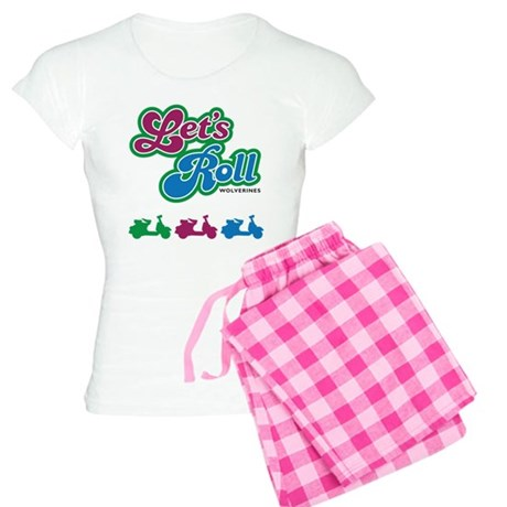 Let's Roll Wolverines Women's Light Pajamas