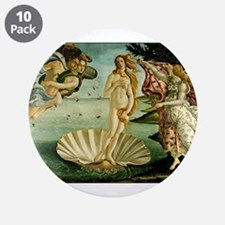 """The Birth of Venus 3.5"""" Button (10 pack)"""