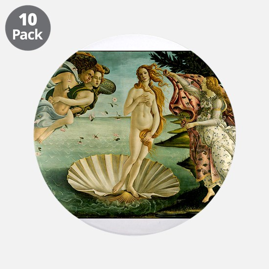 "The Birth of Venus 3.5"" Button (10 pack)"