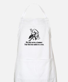 My God carries a hammer. Apron