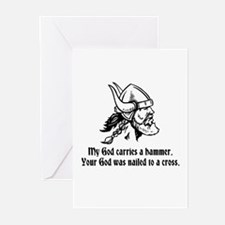 My God carries a hammer. Greeting Cards (Pk of 10)