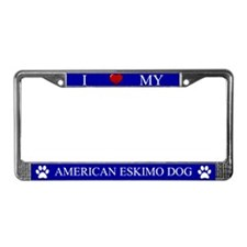 Blue I Love My American Eskimo Dog Frame