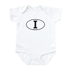 """""""I"""" Italian Euro Flag 1 Infant Creeper"""