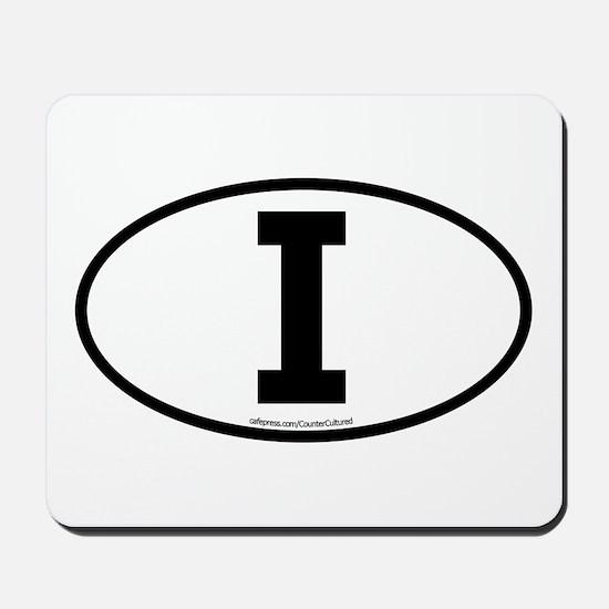 """""""I"""" Italian Euro Flag 1 Mousepad"""
