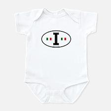 """""""I"""" Italian Euro Flag 2 Infant Creeper"""