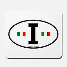 """""""I"""" Italian Euro Flag 2 Mousepad"""
