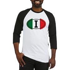 """""""I"""" Italian Euro Flag 3 Baseball Jersey"""