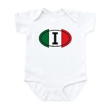 """""""I"""" Italian Euro Flag 3 Infant Creeper"""