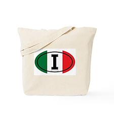 """""""I"""" Italian Euro Flag 3 Tote Bag"""