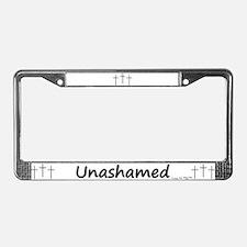License Plate Frame - 3 Crosses Unashamed