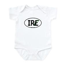 """IRL"" Ireland Euro Flag 1 Infant Creeper"
