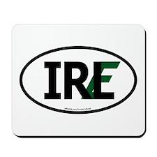 """IRL"" Ireland Euro Flag 1 Mousepad"