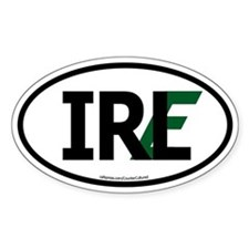 """IRL"" Ireland Euro Flag 1 Oval Decal"