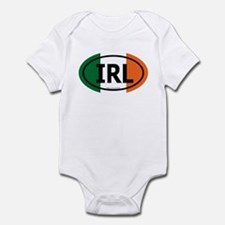 """IRL"" Ireland Euro Flag 2 Infant Creeper"
