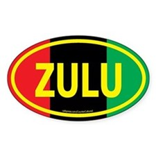 Zulu / Garvey Euro/Yellow Oval Decal