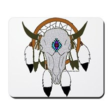 Buffalo Skull Dreamcatcher Mousepad