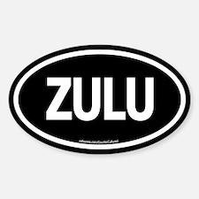 Zulu / Black Euro Oval Decal