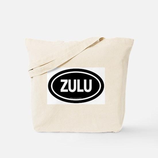 Zulu / Black Euro Tote Bag