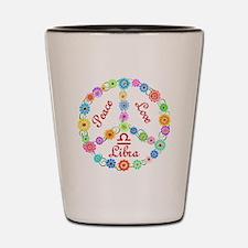 Peace Love Libra Shot Glass