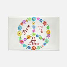 Peace Love Libra Rectangle Magnet