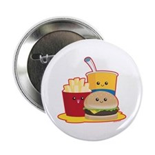 """Fast Food 2.25"""" Button"""