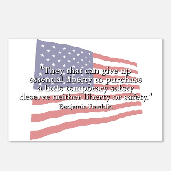 Ben Franklin: Liberty Or Safety Postcards (Package