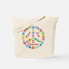 Peace Love Gemini Tote Bag