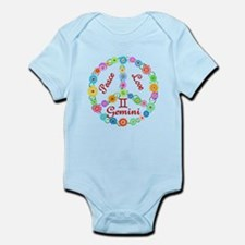 Peace Love Gemini Infant Bodysuit